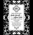Damask victorian brocade pattern invitation