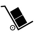 delivery trolley icon vector image vector image