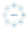 disco icons vector image vector image