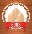 eggs label vector image
