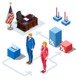 Election Infographic Us Presidents Isometric vector image vector image