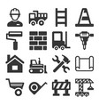 engineering building construction icons set on vector image vector image