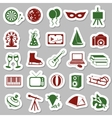 entertainment stickers vector image vector image