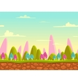 Fantasy cartoon landscape vector image vector image