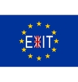 Flags of Europe and United Kingdom with word Exit vector image vector image
