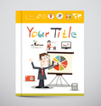 Funky Brochure - Business Book Cover Design with vector image vector image