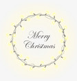 glowing christmas wreath vector image vector image