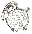 Goat Draw vector image vector image