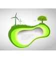 green ecological background vector image vector image