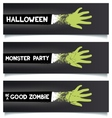 Halloween fun ribbons vector image vector image