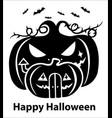 happy halloween silhouette vector image