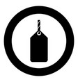 label on the rope icon black color simple image vector image vector image