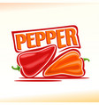 logo for pepper vector image
