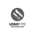 lunch dish spoon knife business logo template vector image
