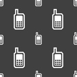 Mobile phone icon sign Seamless pattern on a gray vector image vector image