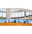 modern business center office building vector image vector image