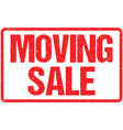 moving sale seal isolated on white vector image