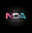 nda n d a three letter logo icon design vector image vector image