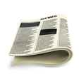 Old folded newspaper vector image vector image