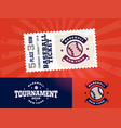 one modern professional design of baseball tickets vector image vector image