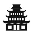 Pagoda simple icon vector image