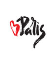 paris inscription with heart