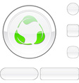 Recycle white button vector image vector image