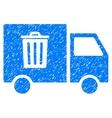 Rubbish Transport Van Grainy Texture Icon vector image vector image