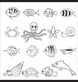 sea and shell animals vector image vector image