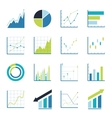 Set statistics icon vector image vector image