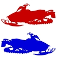 Silhouette snowmobile on white background vector image vector image