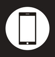 smartphone icon inside circle vector image