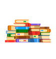 stack of books flat vector image vector image