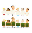 teachers and child classroom set vector image vector image