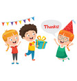 thank you with characters vector image vector image