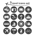 Travel and transportation icons set vector image vector image