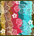 tropical pattern with leaves monstera vector image vector image