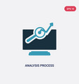 two color analysis process icon from technology vector image vector image