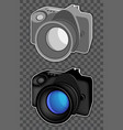 two photo cameras vector image vector image