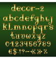 Vintage decorative english alphabet vector image vector image