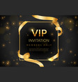 vip luxury gift card vip invitation coupon vector image