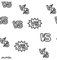 vs abbreviation versus seamless pattern vector image vector image