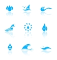 water icons with reflection vector image vector image