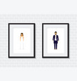 wedding couple photo frame vector image vector image