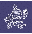 Winter is coming Christmas Background vector image