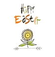 With love at Easter card design calligraphic text vector image vector image