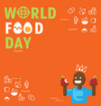 world food day background with black child vector image