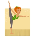 yoga girl vector image