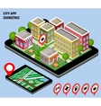 City navigation app vector image