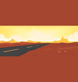 summer desert road vector image